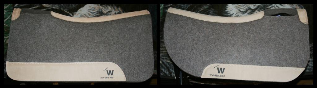 Tapis de selle en laine compressée